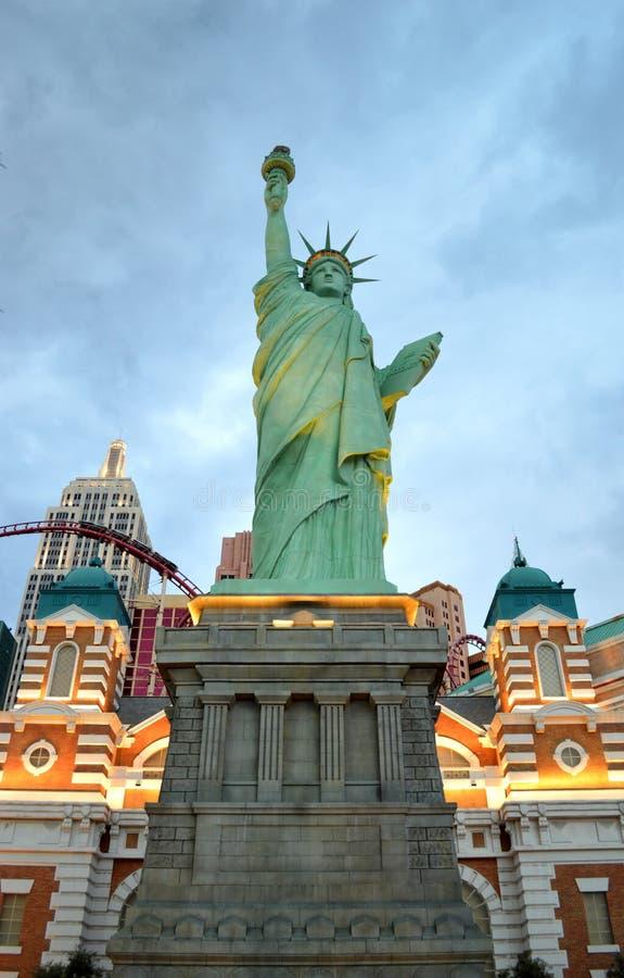 Freiheitsstatue - Hotel New York, New York lizenzfreie stockfotos