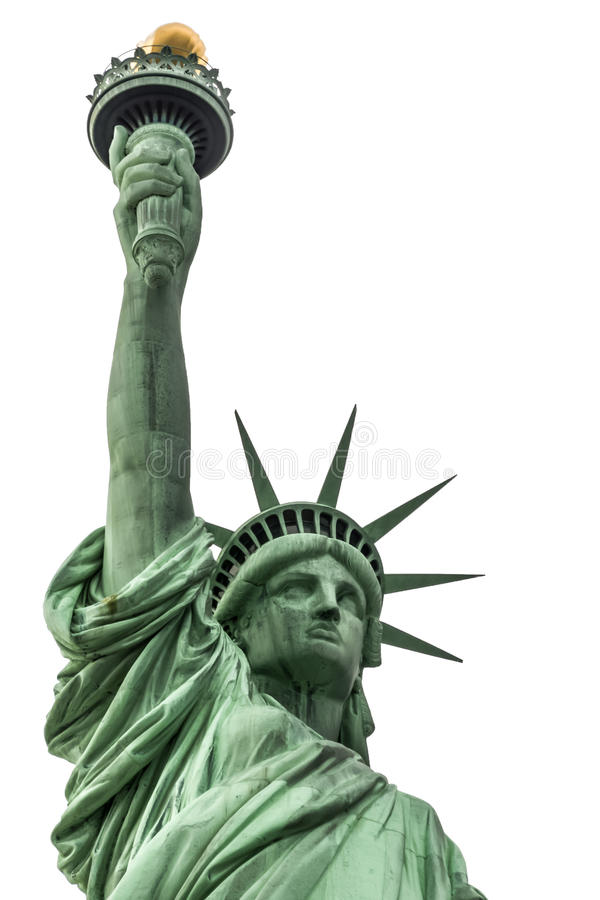 Freiheitsstatue lokalisiert auf einem Weiß lizenzfreies stockfoto