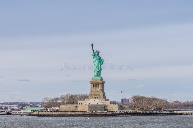 Freiheitsstatue in New York stockfotografie