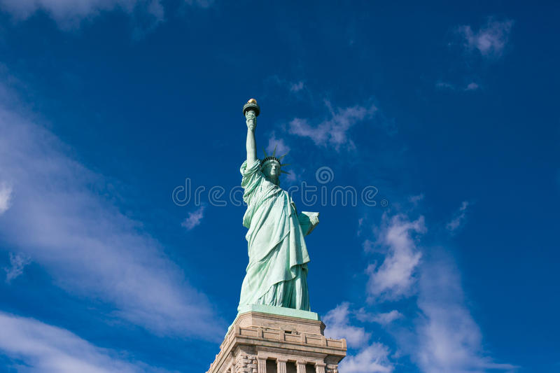 Freiheitsstatue in New York City stockbild