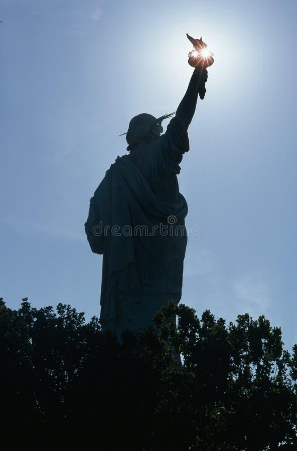 Freiheitsstatue Schattenbild lizenzfreie stockbilder