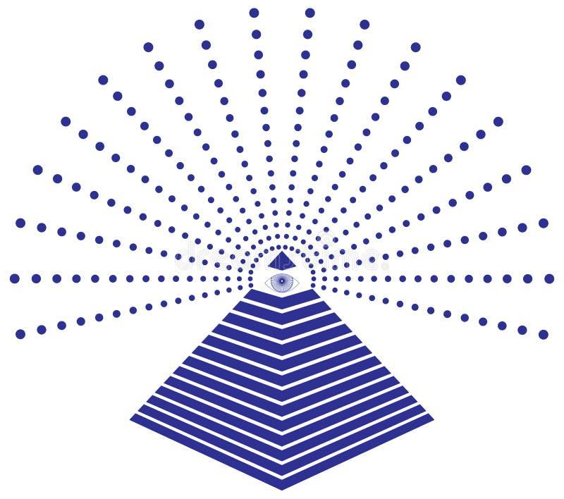 Freimaurer-Auge von Providence-Illustration stock abbildung