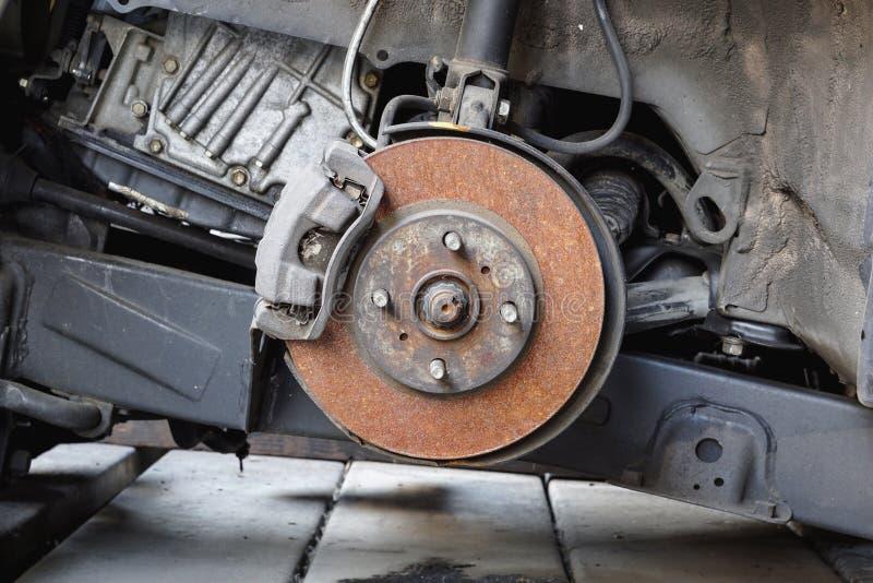 Frein à disque et calibre de voiture images stock