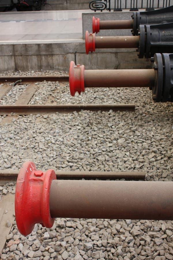 Freios hidráulicos para trens fotografia de stock royalty free
