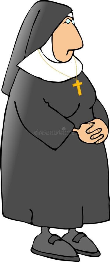 Freira católica 2 ilustração stock
