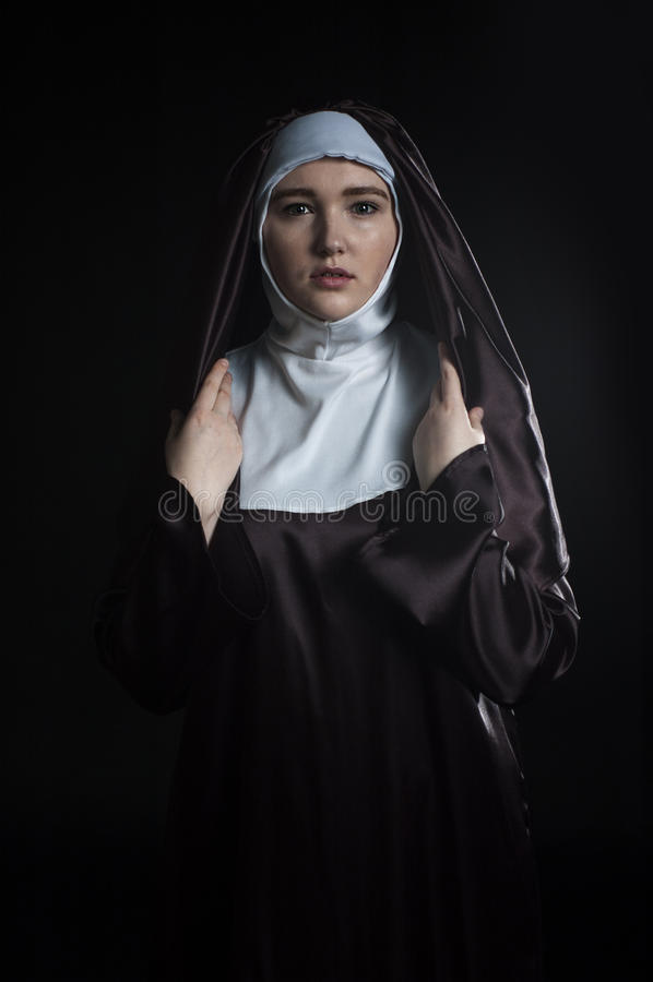 Freira católica foto de stock