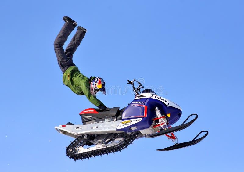 Freistil Snowcross 2013, Novyy Urengoy lizenzfreie stockfotos