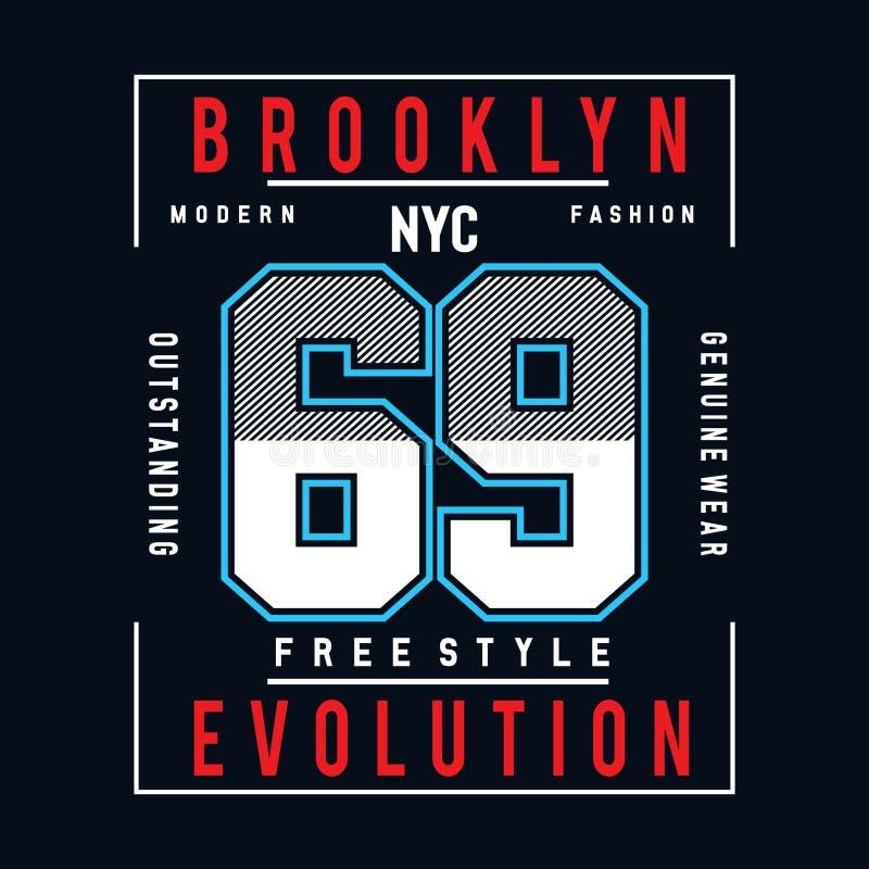 Freistiltypographie-Entwurfst-stück für T-Shirt lizenzfreie abbildung