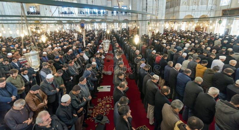 Freitag-Gebet ist ein Gebet, das einmal wöchentlich von den Moslems durchgeführt wird lizenzfreie stockfotos
