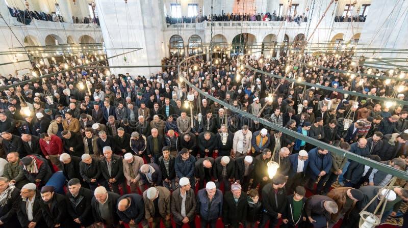 Freitag-Gebet ist ein Gebet, das einmal wöchentlich von den Moslems durchgeführt wird lizenzfreie stockfotografie