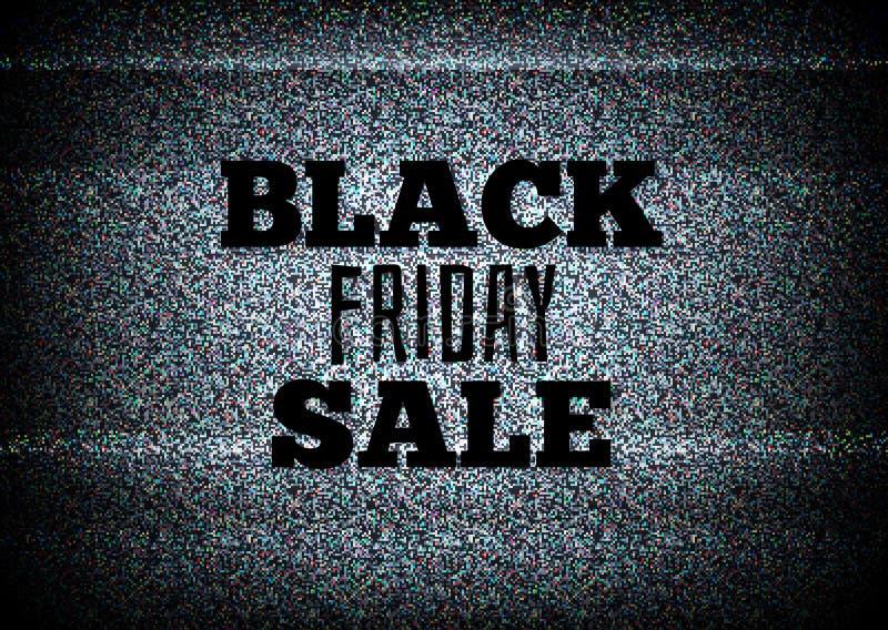 Freitag-Verkaufsvektor der TV-Werbung schwarzer lizenzfreie abbildung