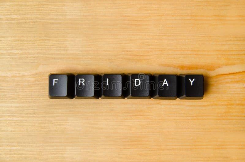 Freitag-Wort lizenzfreie stockbilder