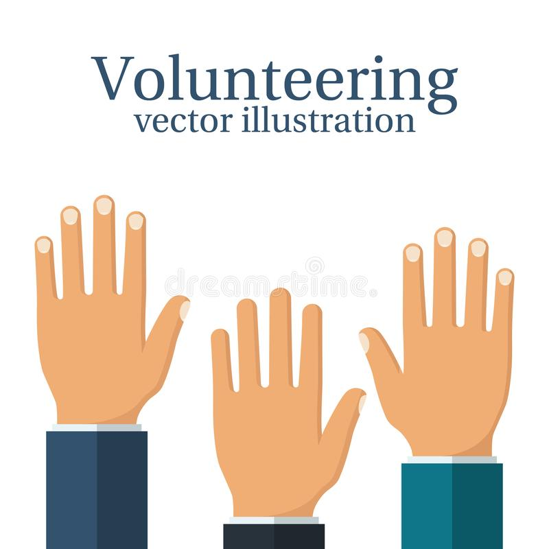 Freiwillig erbieten des Konzeptvektors stock abbildung