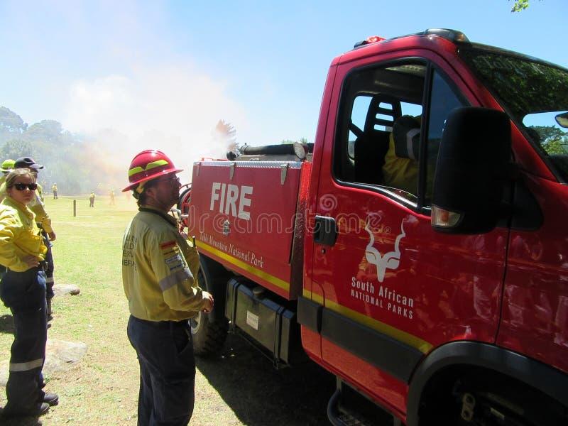 Freiwillige Feuerwehrmänner stockbilder