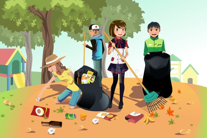 Freiwillige Kinder lizenzfreie abbildung