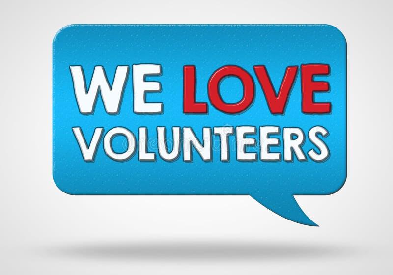 Freiwillige sind willkommen lizenzfreie abbildung