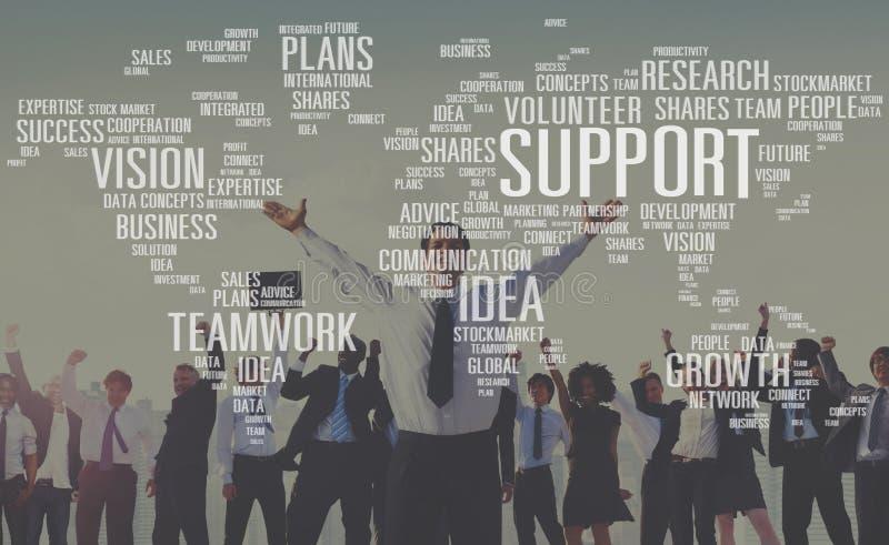 Freiwillige zukünftige Sachkenntnis-plant zukünftiges Ideen-Wachstum Konzept stockbilder
