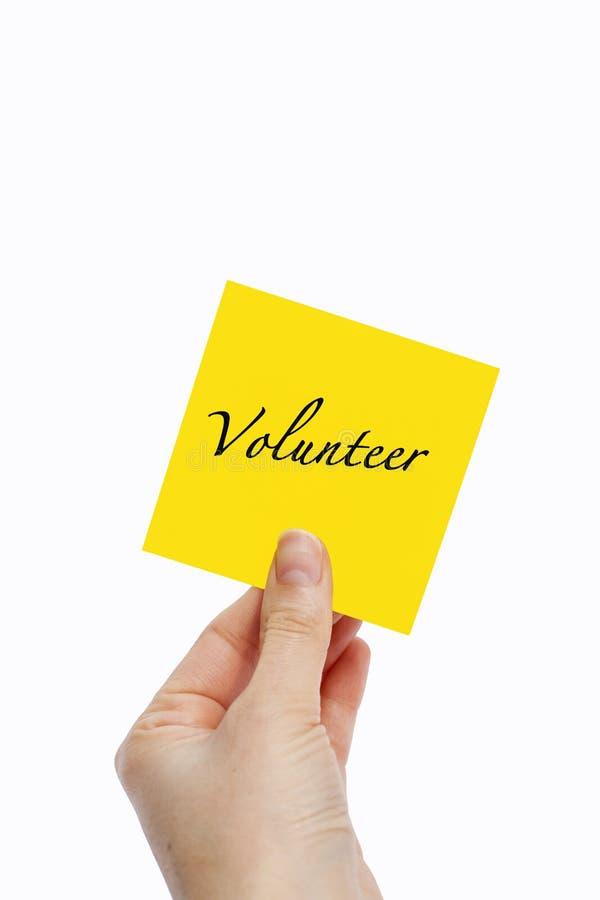 freiwilliger stockbild