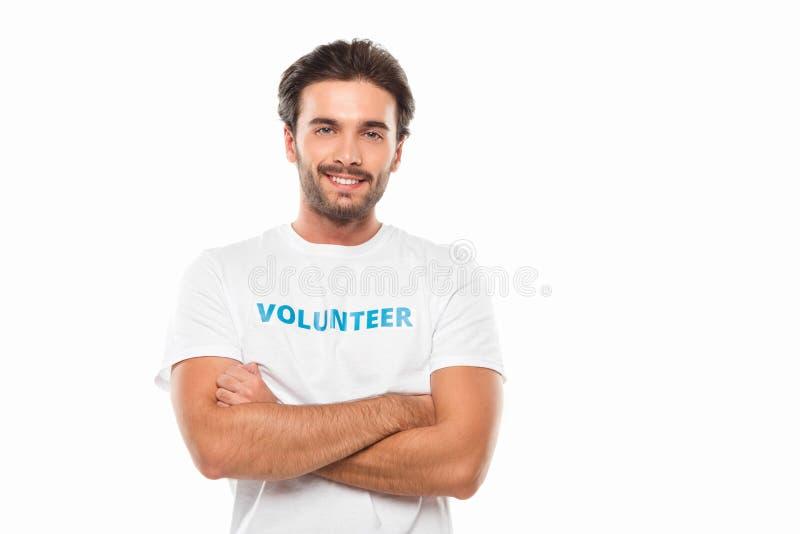 Freiwilliger darstellender Daumen oben stockfoto