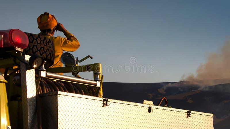 Freiwilliger Feuerwehrmann stockfoto