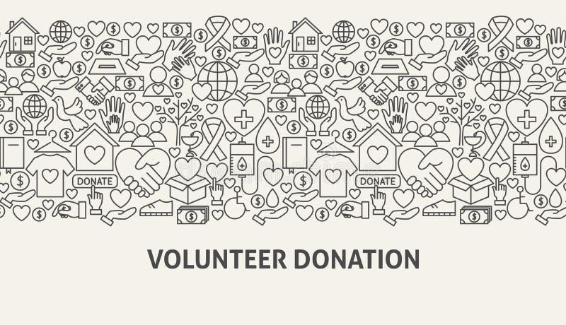 Freiwilliges Spenden-Fahnen-Konzept vektor abbildung