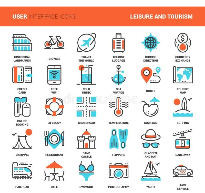 Freizeit und Tourismus stock abbildung