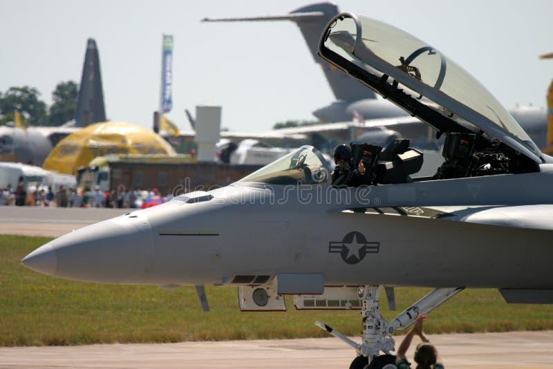 Frelon de McDonnell Douglas F/A-18 photos libres de droits