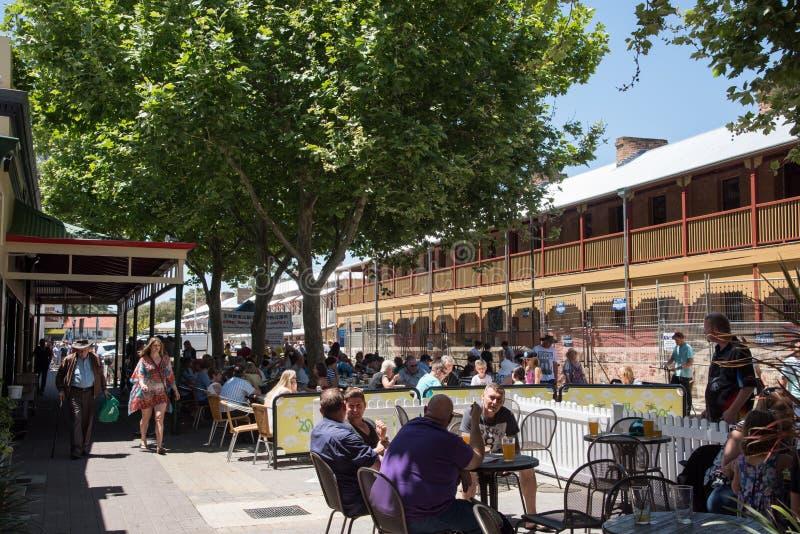 Fremantle边路咖啡馆` s 图库摄影