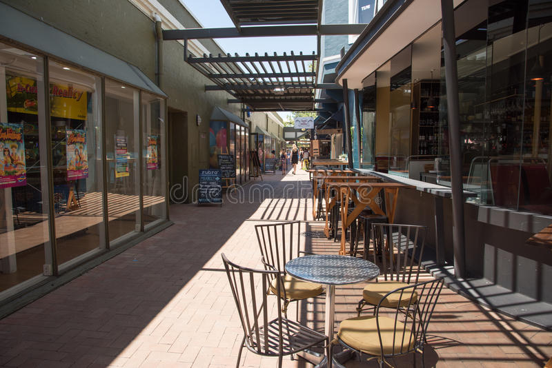 Fremantle Alley with Cafe stock photo