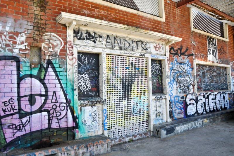 Fremantle, Austrália Ocidental: Perspectivas dos grafittis imagens de stock royalty free