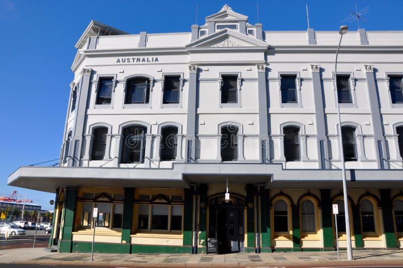 Fremantle byggnadsarkitektur: Gammalt och nytt royaltyfri fotografi
