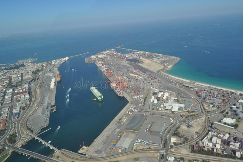 Fremantle hamn Perth västra Australien royaltyfri bild