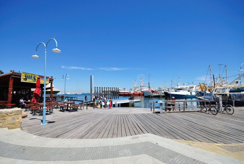 Fremantle Harbour, Perth, Australia. stock images