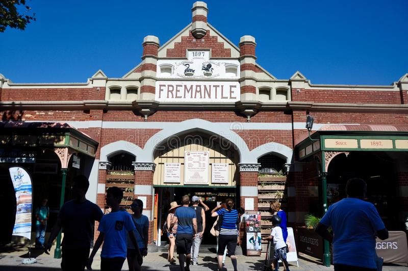 Fremantle Markets Entrance: Western Australia royalty free stock photo