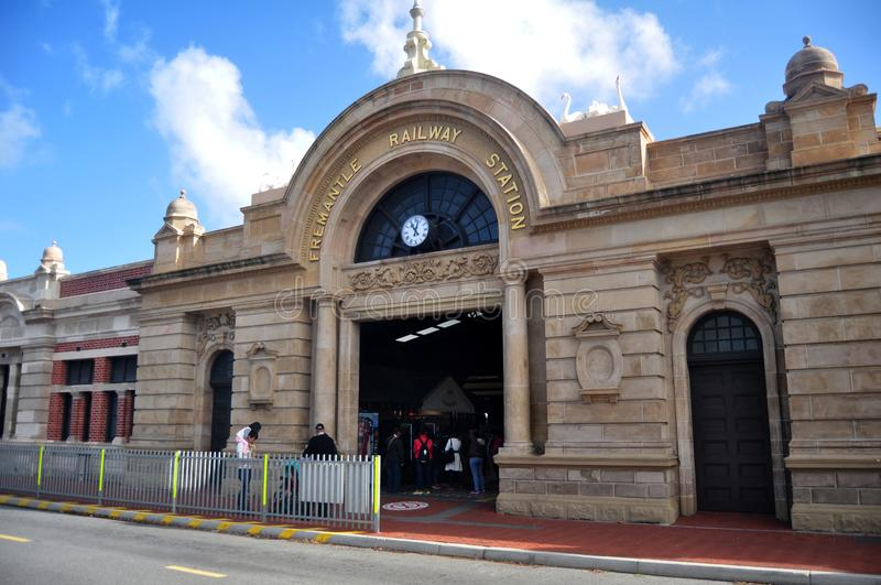 Fremantle railway station at Fremantle port city in Perth, Australia royalty free stock photography