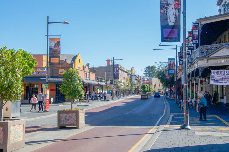 Fremantle's Cappuccino Strip stock images