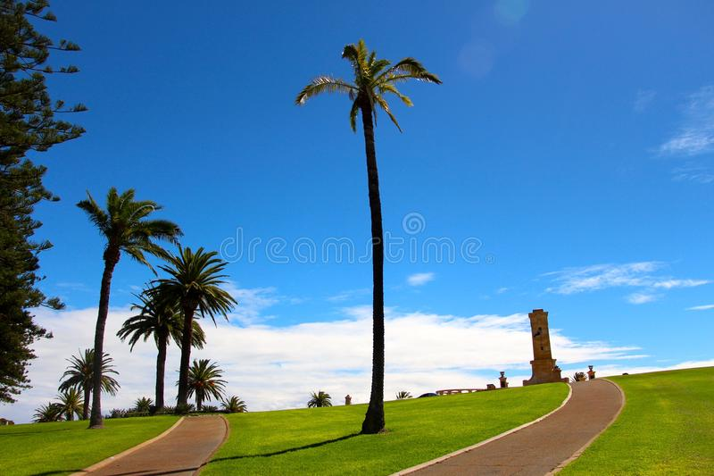 Fremantle war memorial on a blue bird day. Perth Western Australia stock image