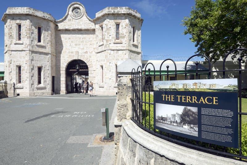 FREMANTLE, WESTERN AUSTRALIA - Nov 16, 2014 - The famous Fremantle Old Prison royalty free stock photo