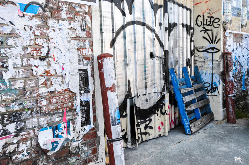 Fremantle, Western Australia: Tagging and Graffiti royalty free stock photos