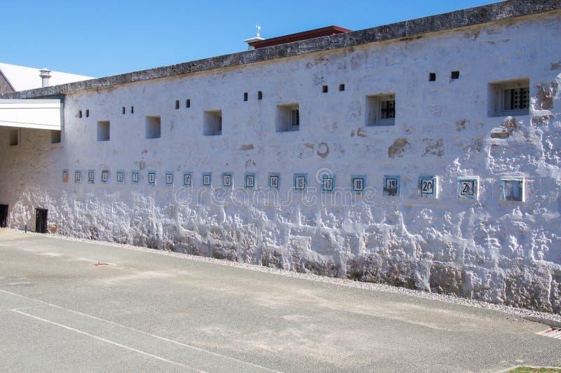 Fremantle więzienie: Licząca ściana obraz stock
