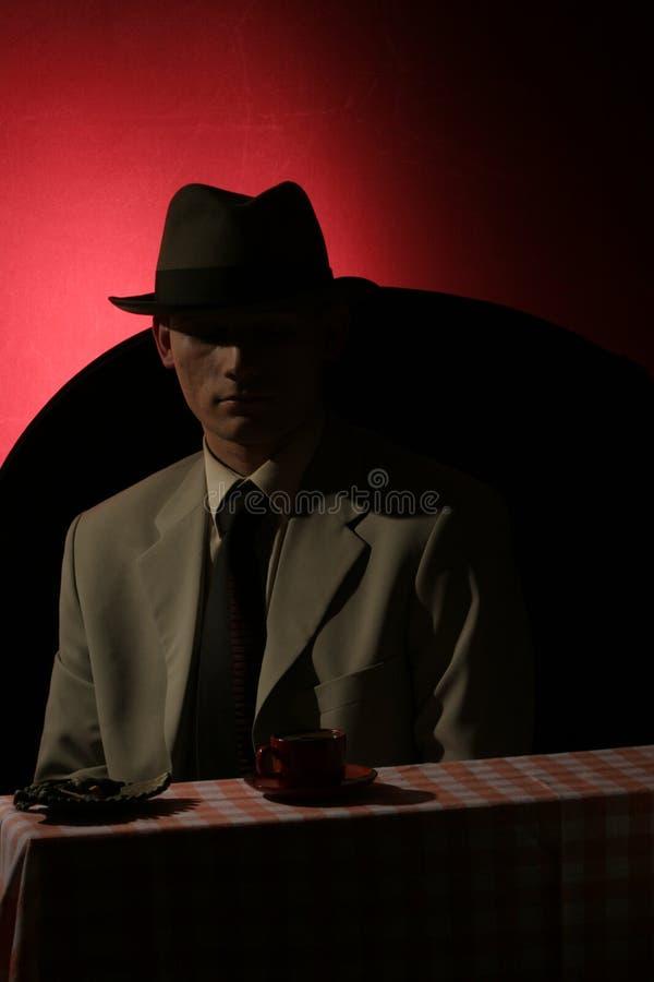 Fremder - Mann im grauen Hut lizenzfreie stockfotografie