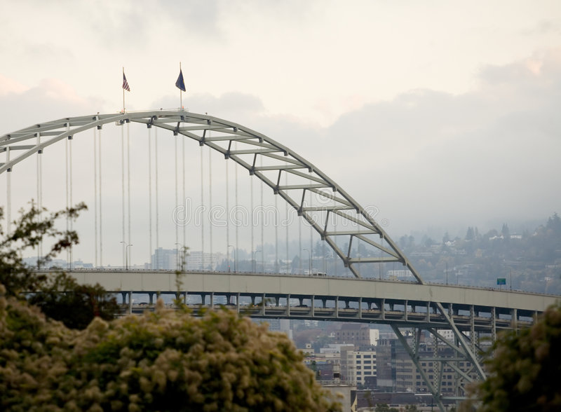 Fremont Bridge, Portland, Oregon royalty free stock photo
