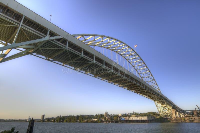 Fremont Bridge Portland Oregon royalty free stock images