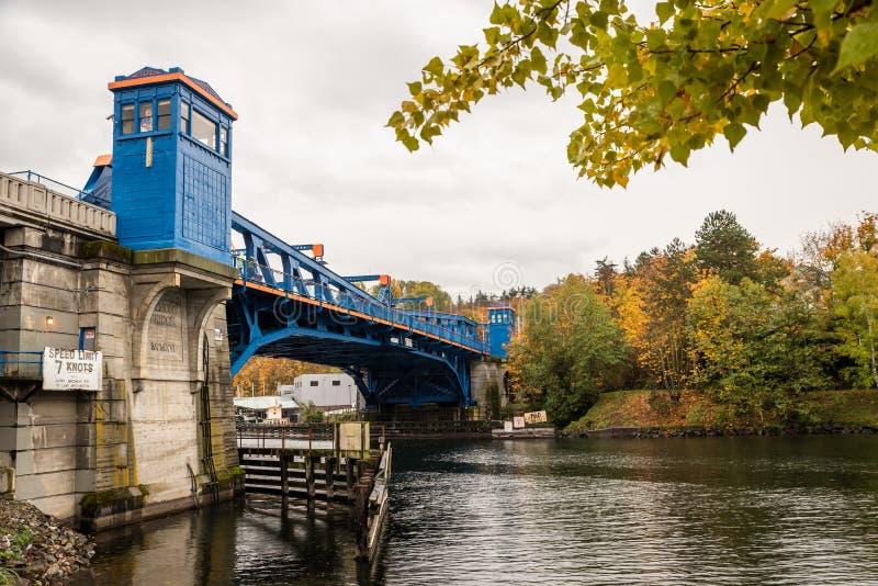 Fremont Bridge in Seattle stock image