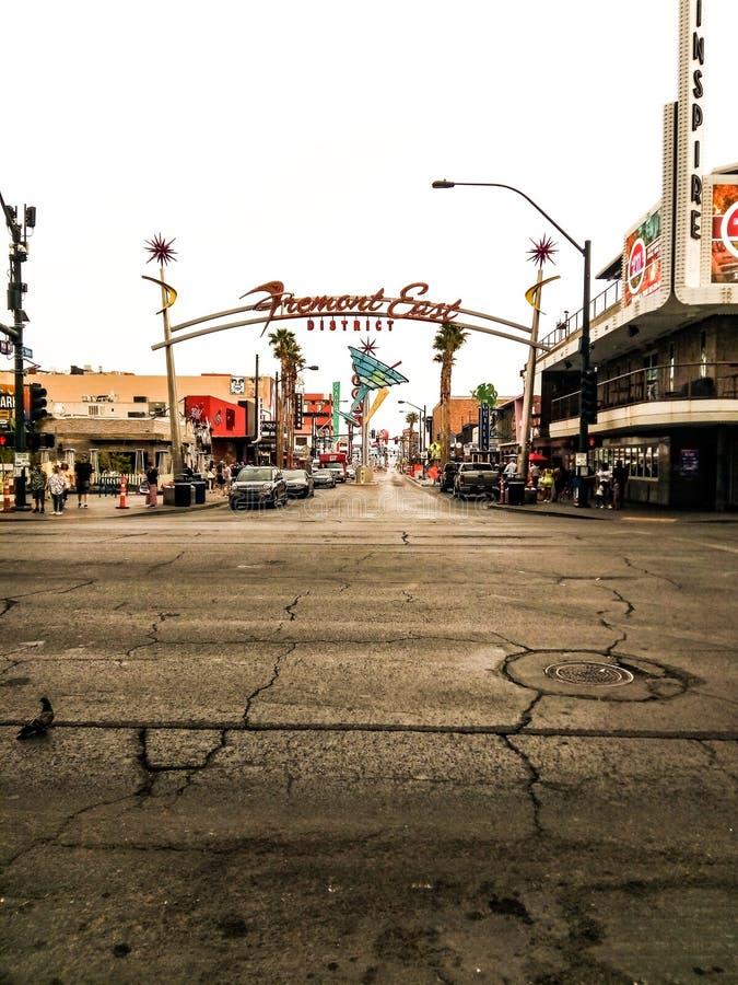 Fremont Street in Vegas royalty free stock image