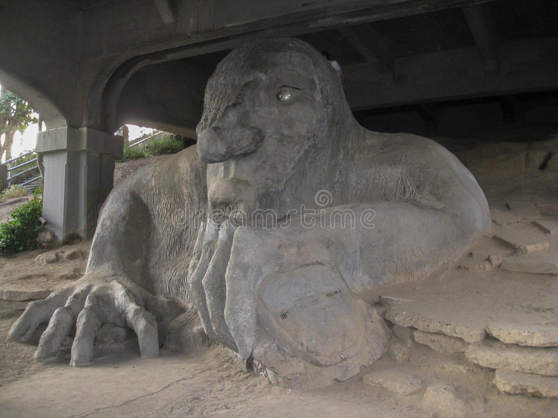 Fremont Troll Seattle photos libres de droits