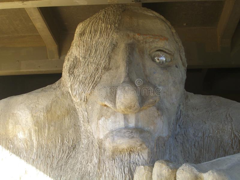 Fremont Troll - Seattle, Washington photos libres de droits