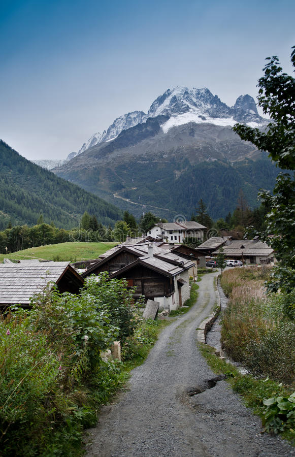 French Alpine village stock images