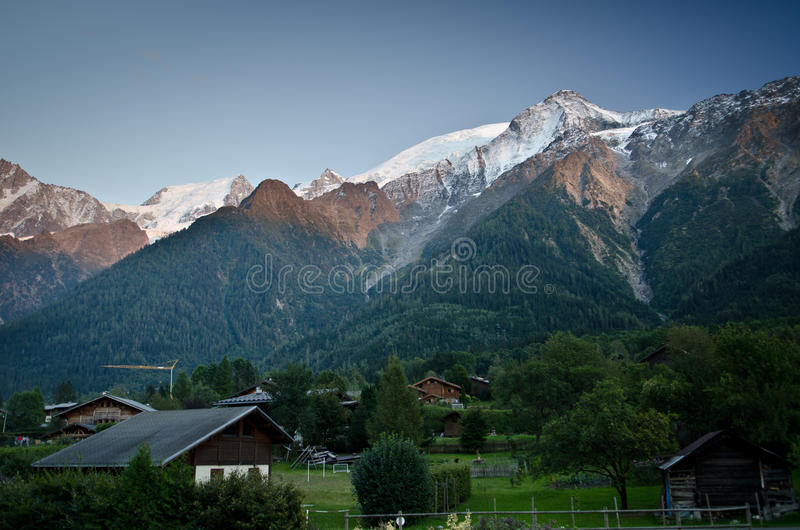 French Alpine village royalty free stock photography