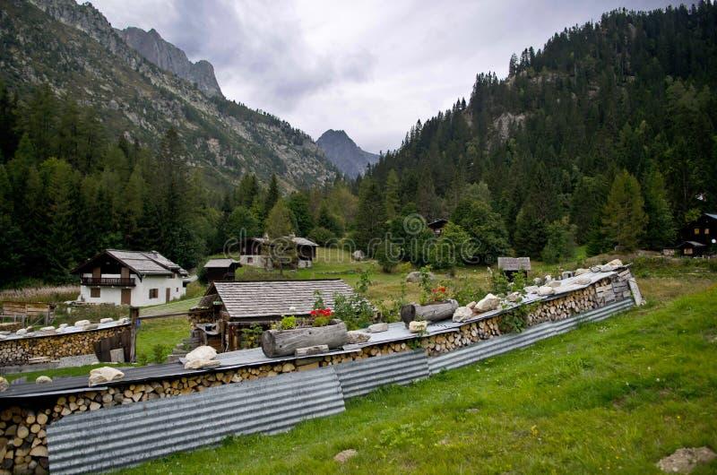 French Alpine village stock photo